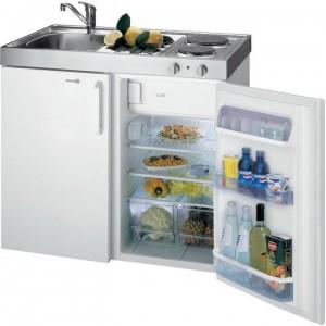 Kompaktküche Spüle links