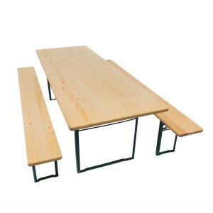 Table pliante et 2 bancs pliants 740x2200x800mm