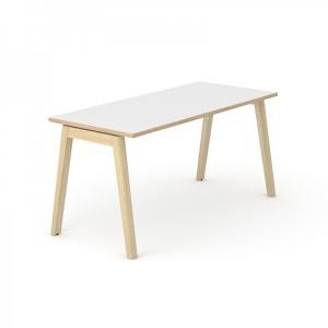 Table de bureau avec piétement bois 740x1400x700mm